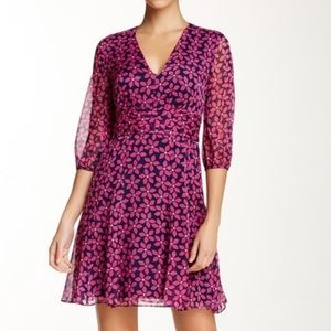 DVF Diane Von Furstenberg silk a-line floral dress